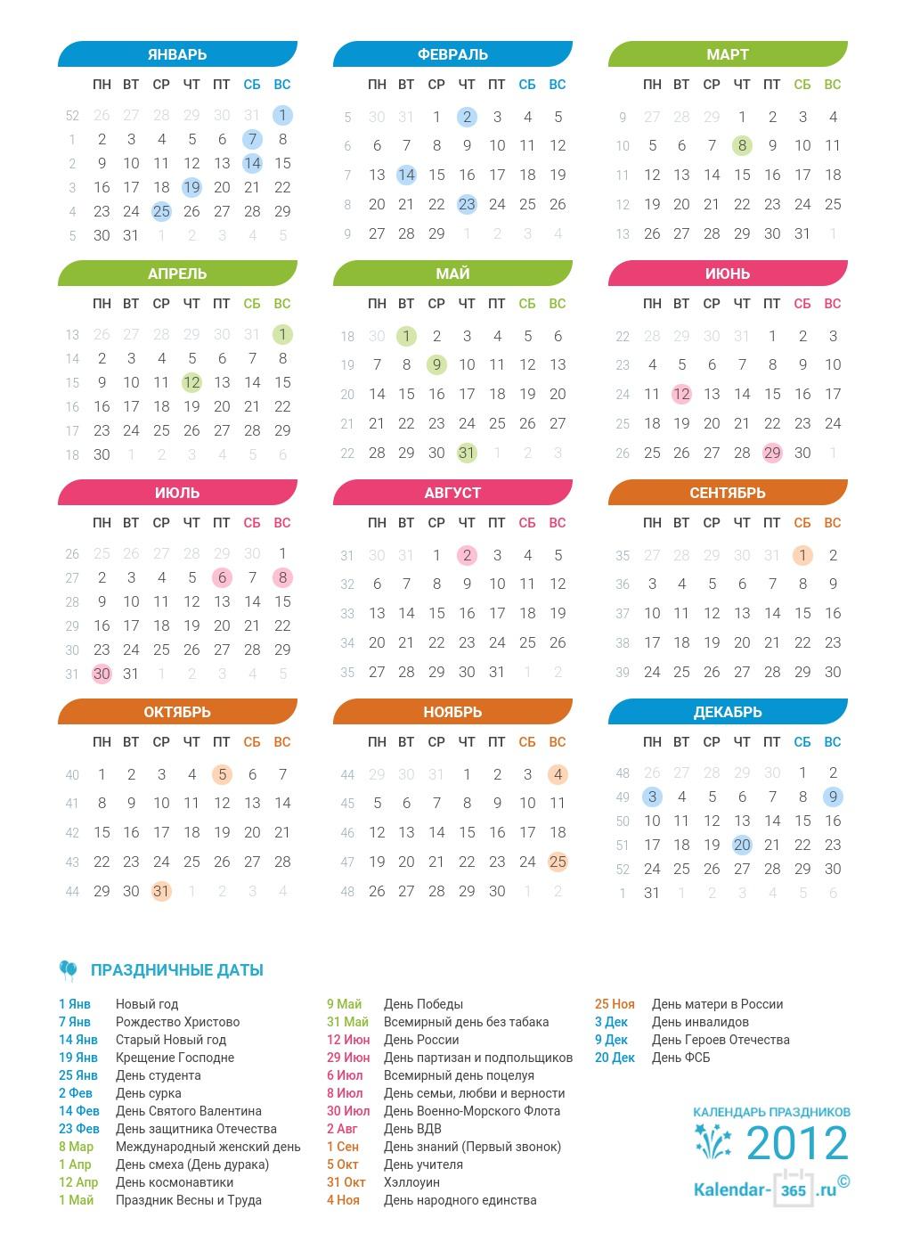 Секс календари 2012