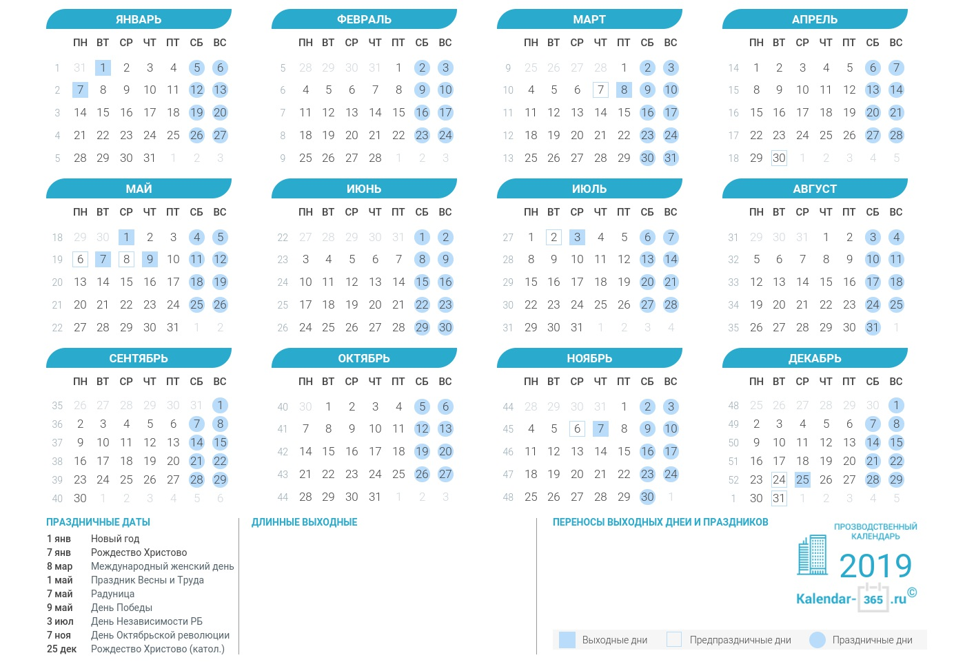 Праздники в апреле 2019 года: календарь праздников